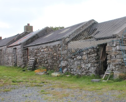 Old croft house and sheds
